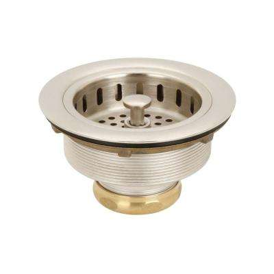 3-1/2 in. Post Basket Strainer in Satin Nickel