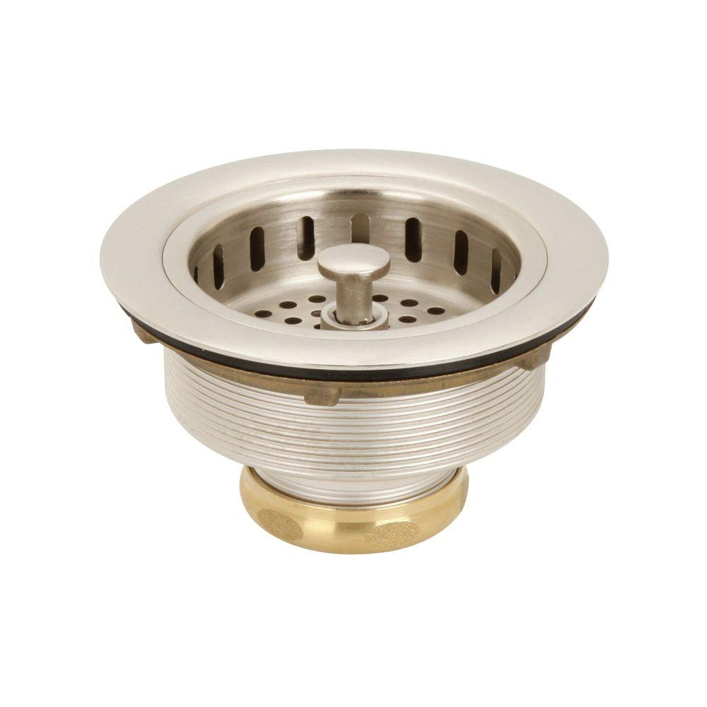 Post Basket Strainer in Satin Nickel Westbrass
