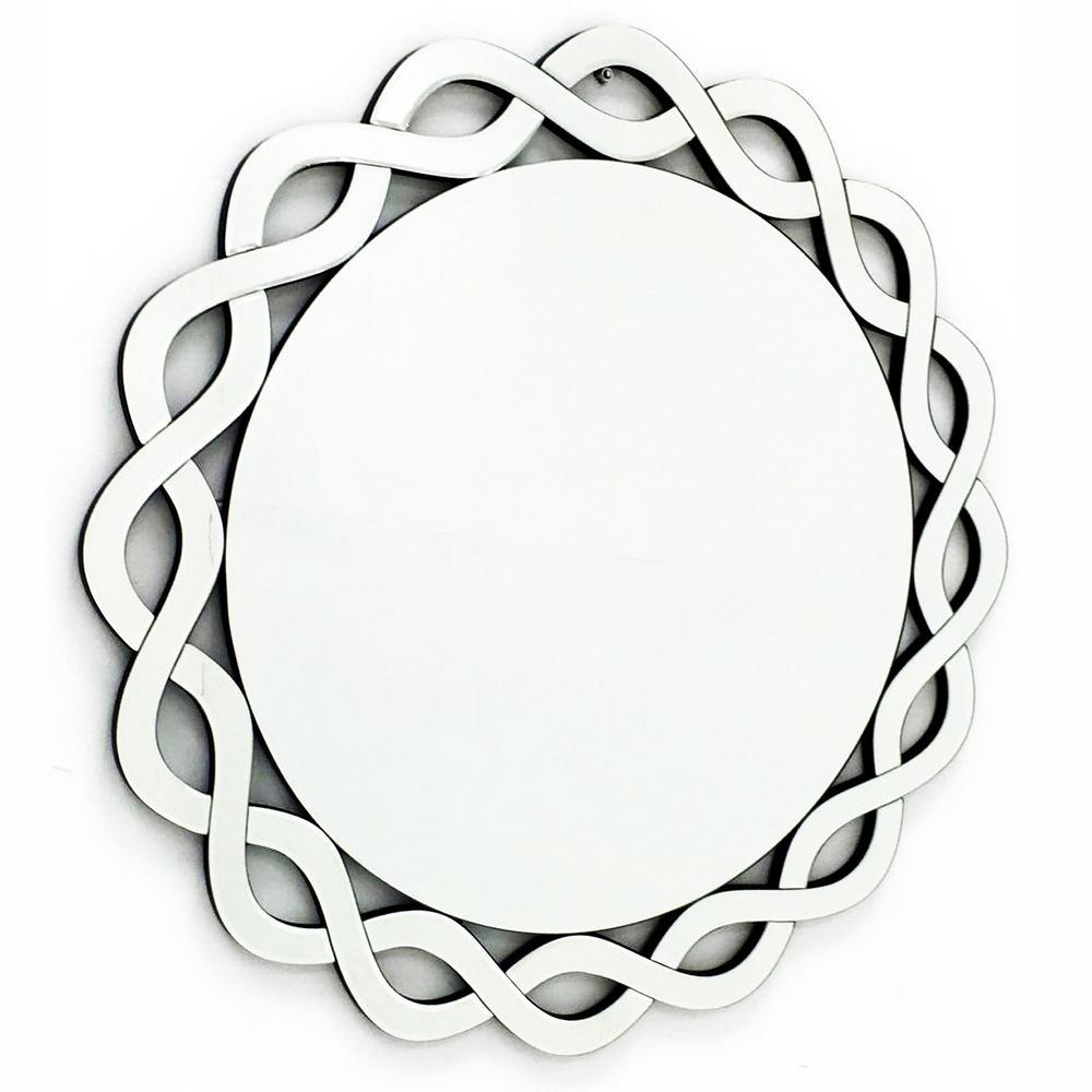 31.5 in. x 31.5 in. The Cumberland Modern Round Framed Vanity Mirror