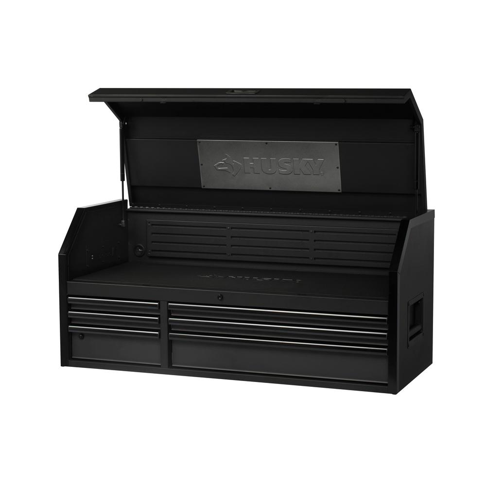 Husky Industrial 52 in. W x 21.2 in. D 6-Drawer Tool Chest in Matte Black