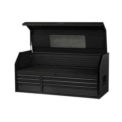 Industrial 52 in. W x 21.2 in. D 6-Drawer Top Tool Chest in Textured Black