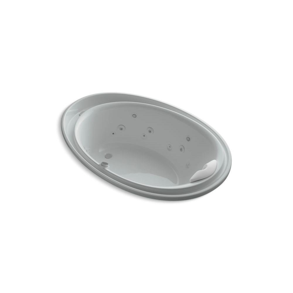 KOHLER Purist 6 ft. Whirlpool Tub in Ice Grey