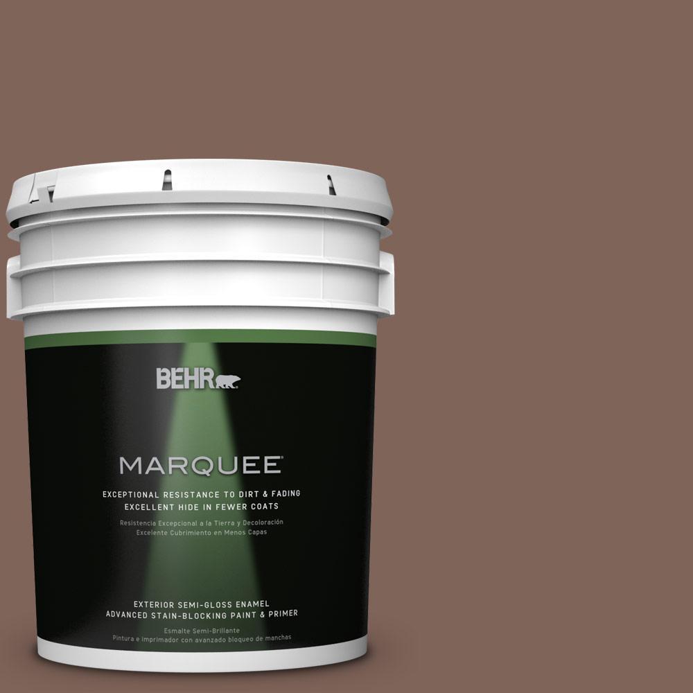 Home Decorators Collection 5-gal. #HDC-AC-05 Cocoa Shell Semi-Gloss Enamel