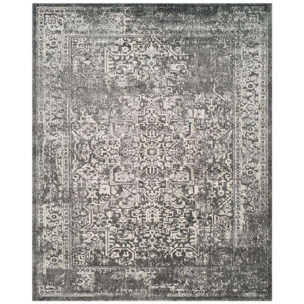 Safavieh Evoke Grey Ivory 8 Ft X 10 Ft Area Rug Evk256d