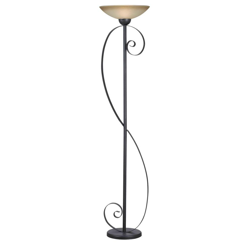 Kenroy Home Galaxy 72 in. Oil-Rubbed Bronze Torchiere