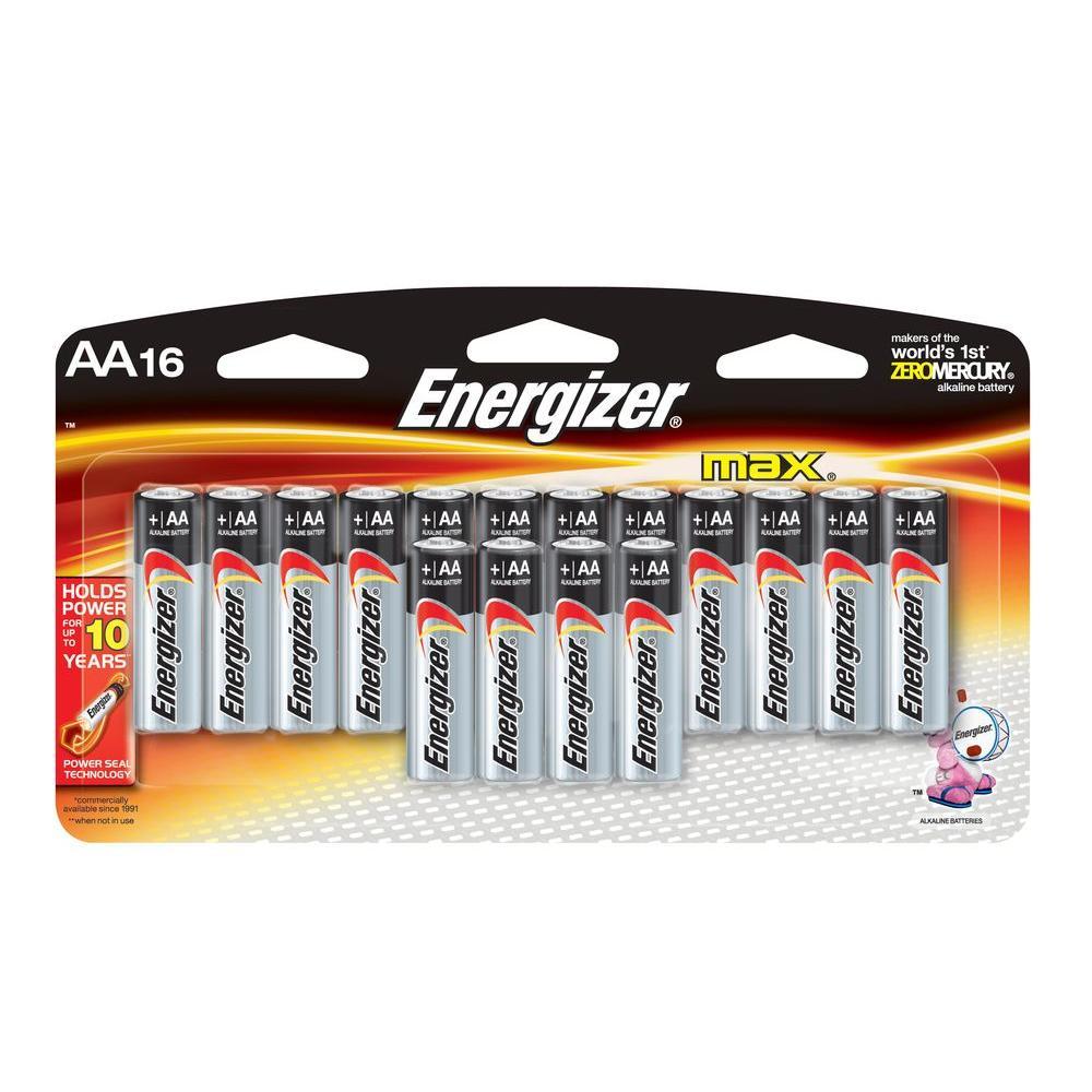 Energizer Alkaline AA Battery (16-Pack)
