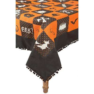 0.2 in. x 50 in. x 50 in. Halloween Patchwork Tablecloth