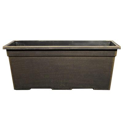 15 in. x 7.99 in. Black/Bronze Plastic Window Box
