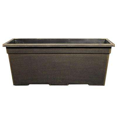 15 in. x 7.99 in. Plastic Leonardo Black Bronze Window Box
