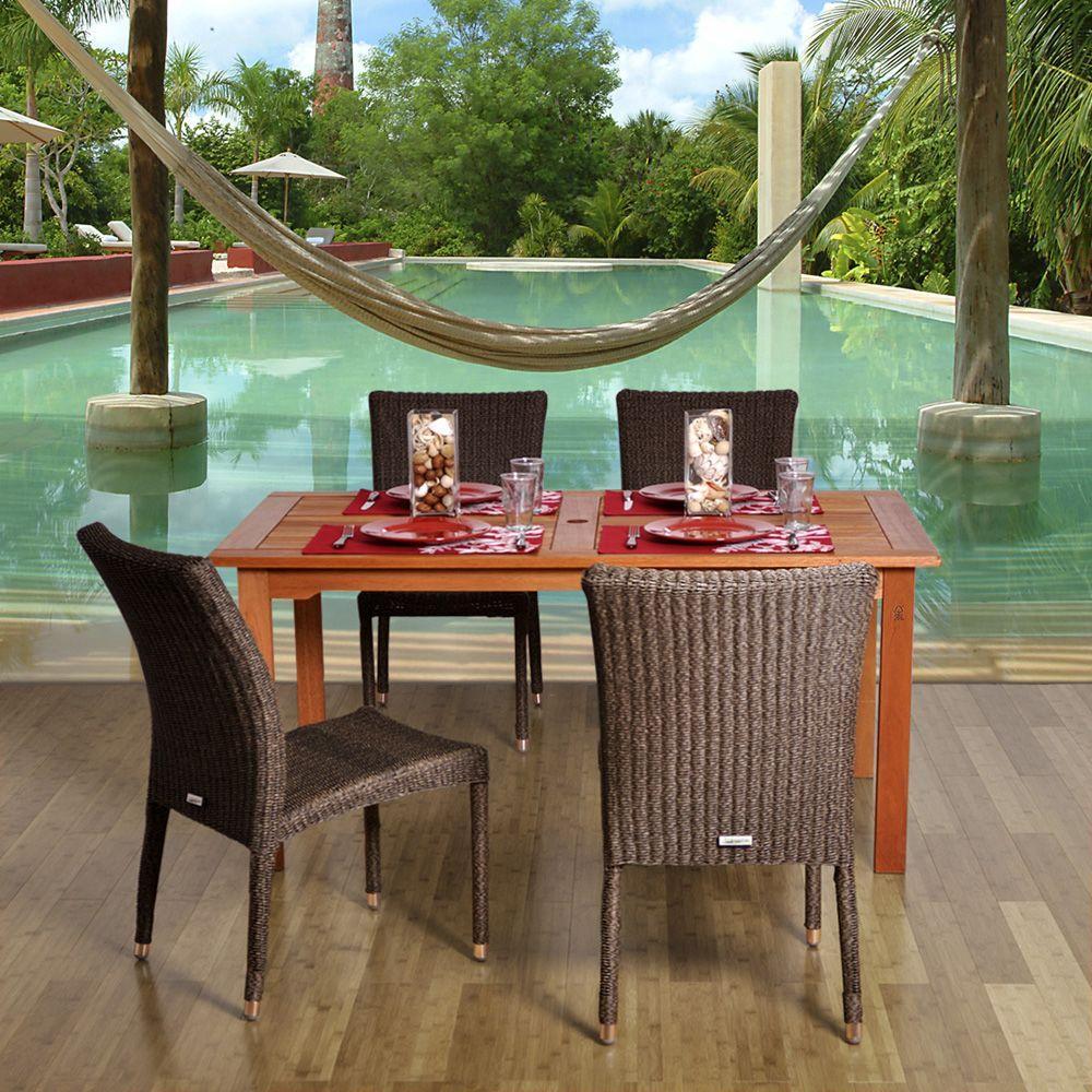 Amazonia brugge 5 piece patio dining set brugge set the for Mobel brugge