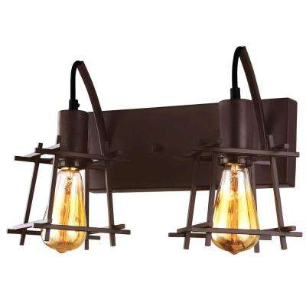 Hashtag 2-Light New Bronze Vanity Light