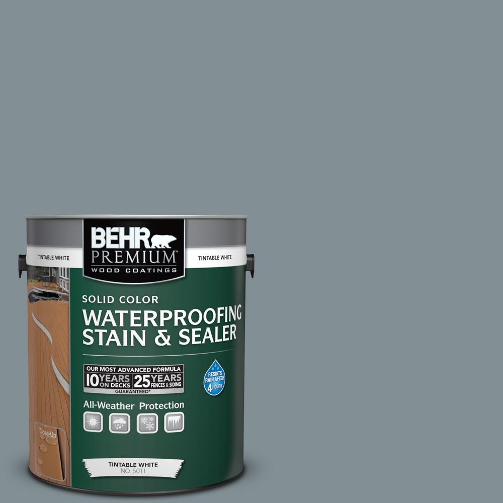 1 gal. #740F-4 Dark Storm Cloud Solid Color Waterproofing Exterior Wood
