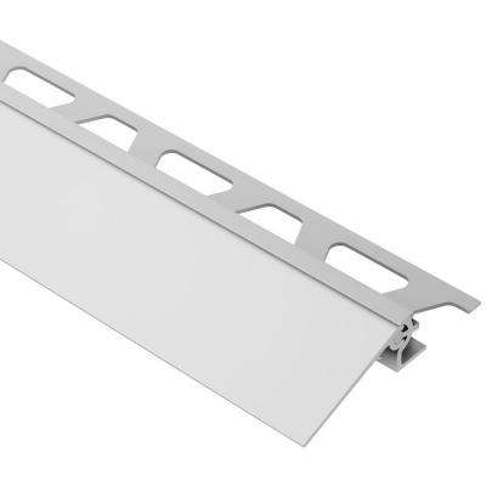 Reno-V Satin Anodized Aluminum 1/2 in. x 8 ft. 2-1/2 in. Metal Reducer Tile Edging Trim