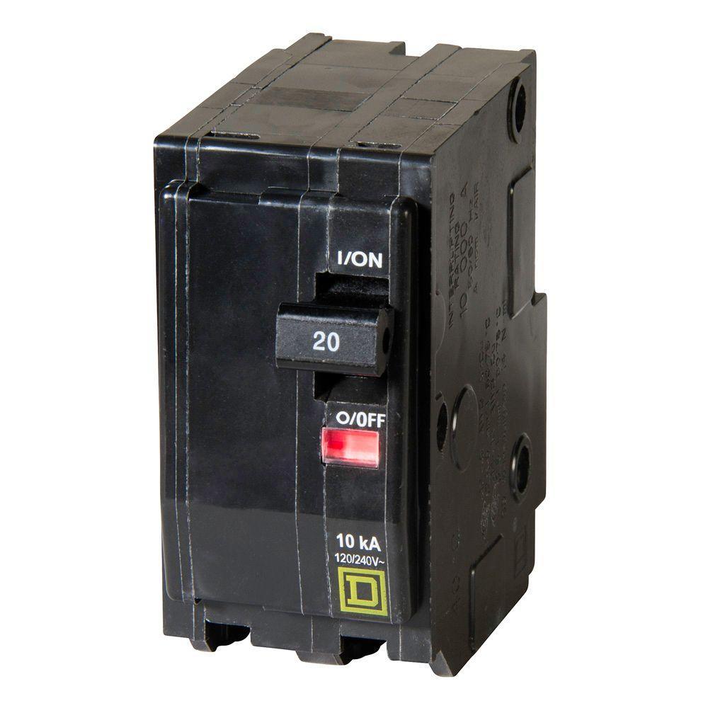 SERIES 3 240 Volt 2 Pole 20 Amp Circuit Breaker- NEW Square D QOU220