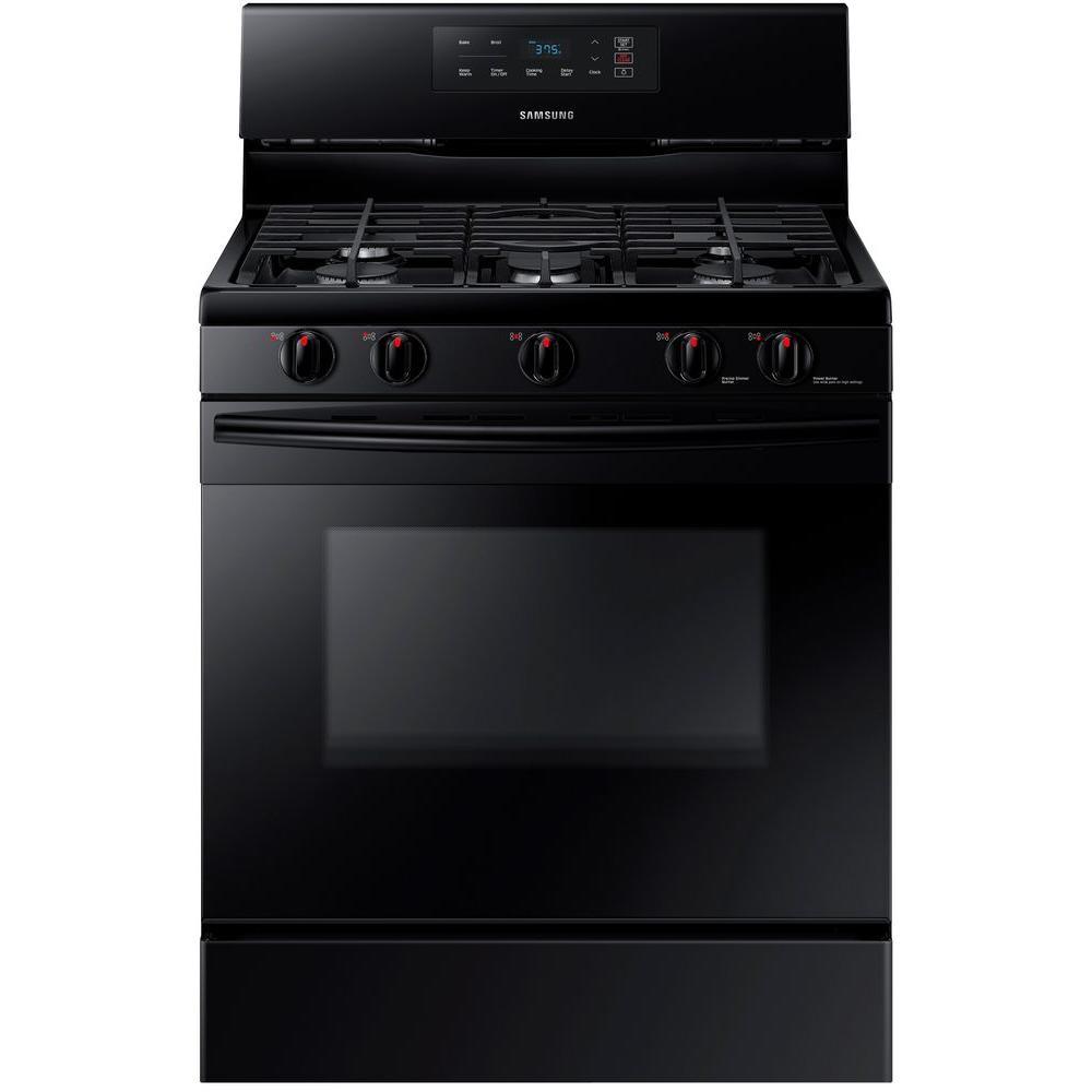 Samsung 30 in. 5.8 cu. ft. Single Oven Gas Range in Black