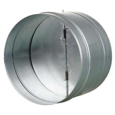 8 in. Galvanized Back-Draft Damper with Rubber Seal