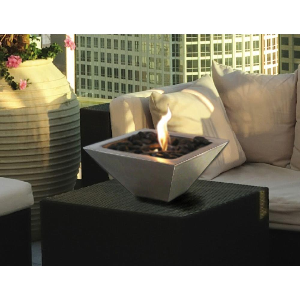 Anywhere Fireplace 12 In Empire Tabletop Stainless Steel Ethanol