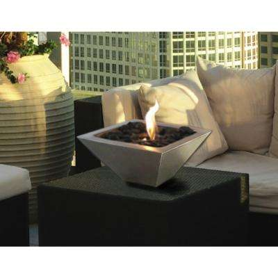 12 in. Empire Tabletop Stainless Steel Ethanol Fireplace