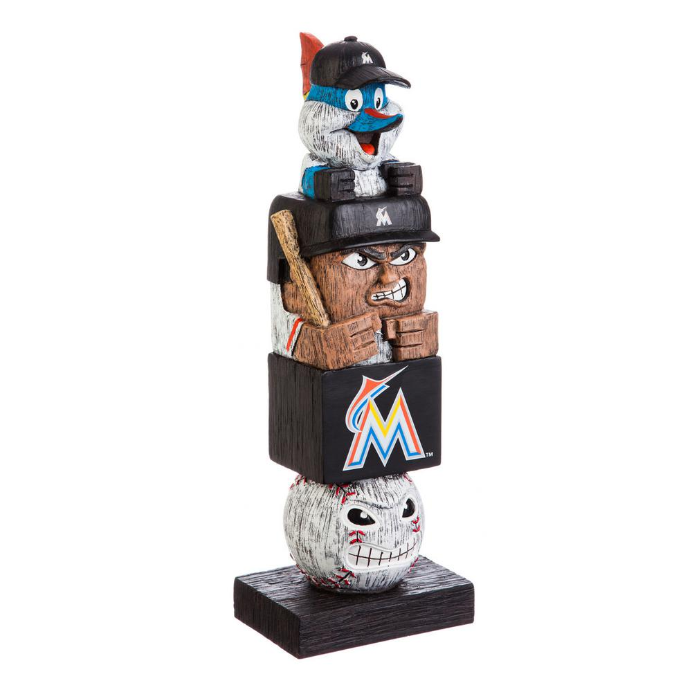Evergreen Miami Marlins Tiki Totem Garden Statue