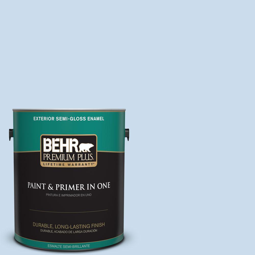 BEHR Premium Plus 1-gal. #560C-2 Caribbean Mist Semi-Gloss Enamel Exterior Paint
