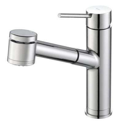 Oletto Single Handle Pull Out Kitchen Faucet in Chrome Finish