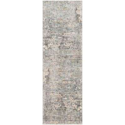Congressional Grey 3 ft. 3 in. x 10 ft. Abstract Area Rug