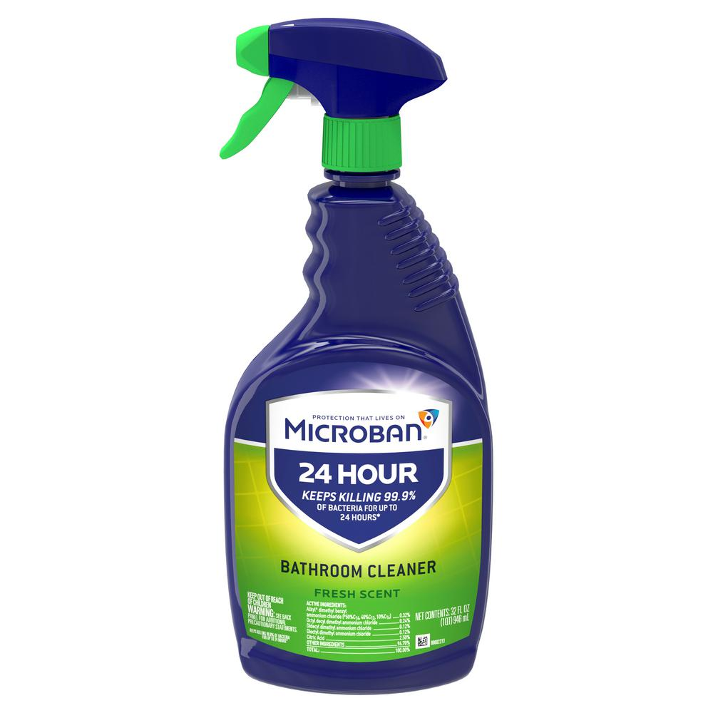 Microban 24-Hour 32 oz. Fresh Scent Bathroom Cleaner Spray