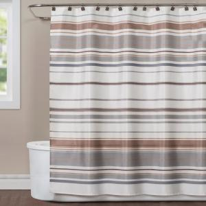 Saturday Knight Colorware Stripe 72 inch Neutral Polyester Shower Curtain by Saturday Knight