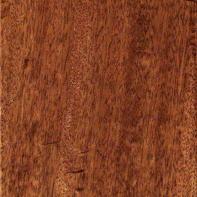 Hand Scraped Mahogany Natural 3/8 in. T x 5-3/4 in. W x Varying Length Click Lock Hardwood Flooring (22.68 sq.ft/case)