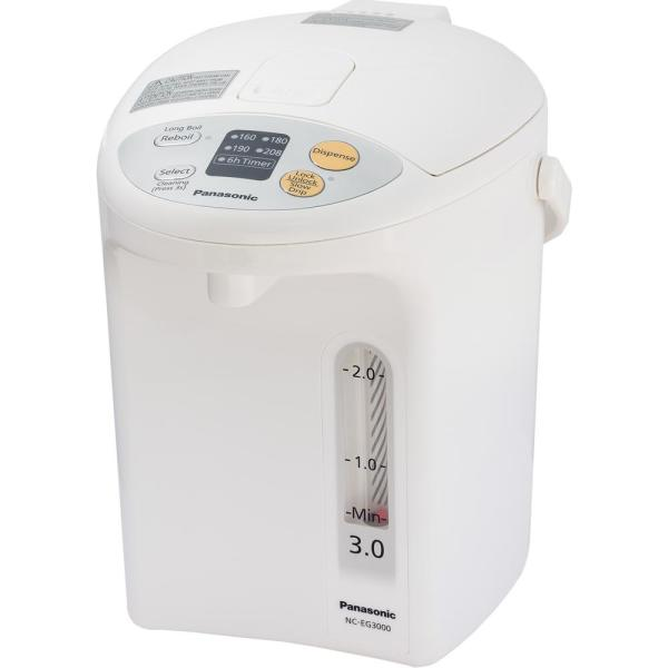 Panasonic-Electric Thermo Pot 12-Cup White Electric Kettle with Temperature Control