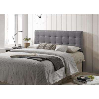 Gray Guilia Square-Stitched Headboard, Queen Size