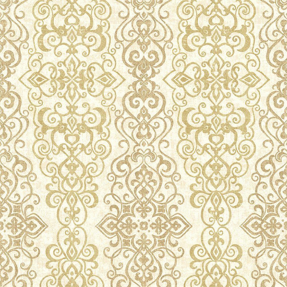kenneth james mexuar gold filigree stripe wallpaper 2618 21342 the
