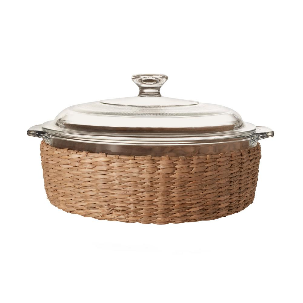 Baker's Basics 3-Piece Glass Casserole with Cover and Basket
