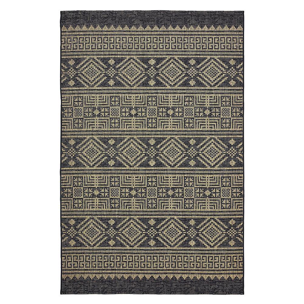Sun Shower Black/Brown 5 ft. x 8 ft. Indoor/Outdoor Rectangular Area Rug