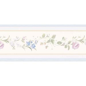 Floral trail wallpaper border 499b61885 the home depot - Floral wallpaper home depot ...