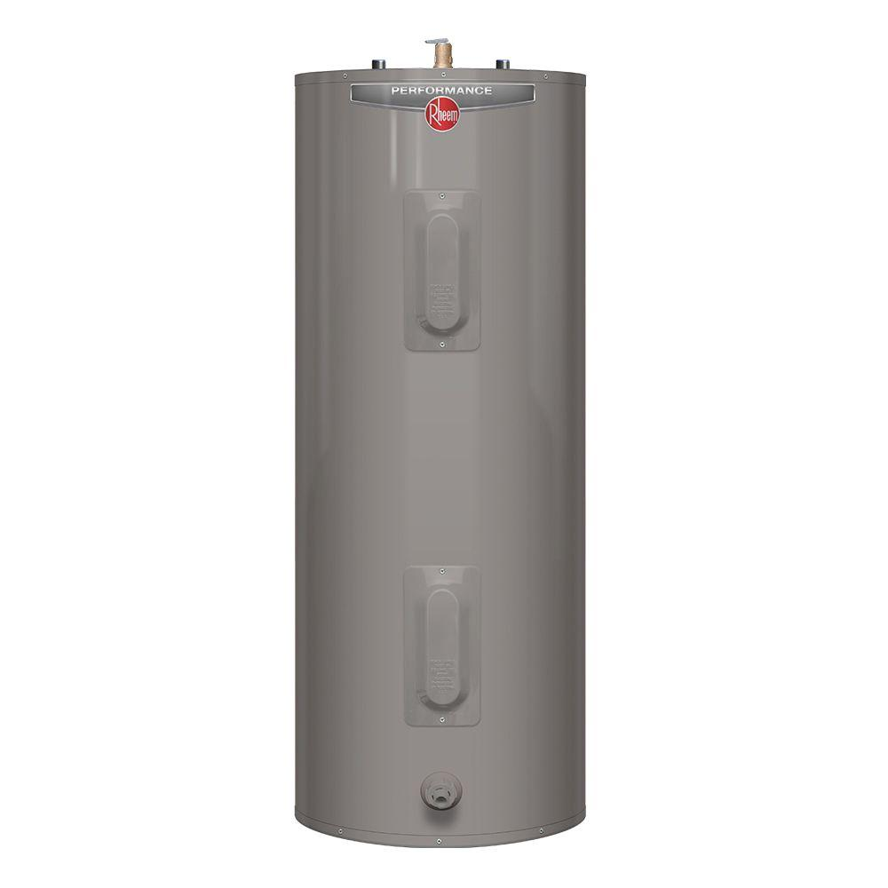 rheem water heater 40 gallon. rheem performance 40 gal. medium 6 year 4500/4500-watt elements electric water heater gallon home depot