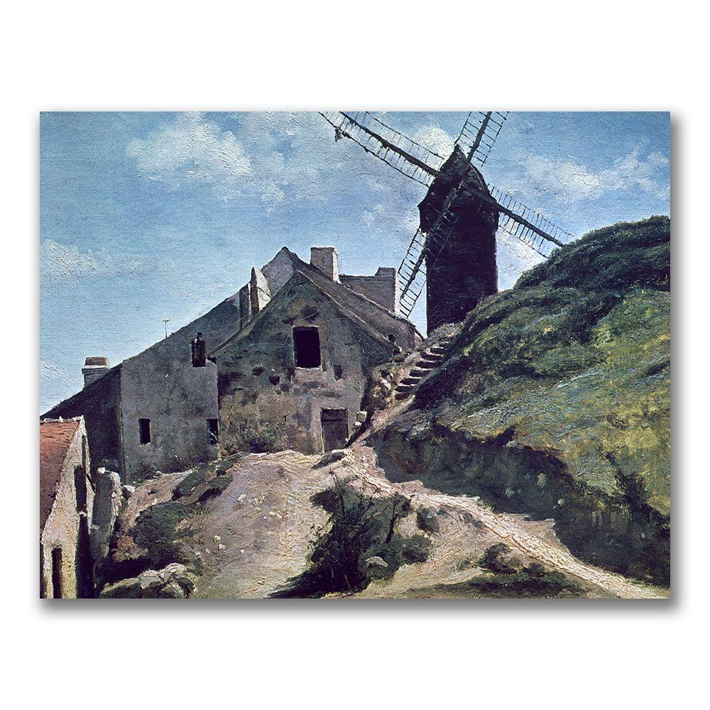 24 in. x 32 in. A Windmill at Montmartre Canvas Art