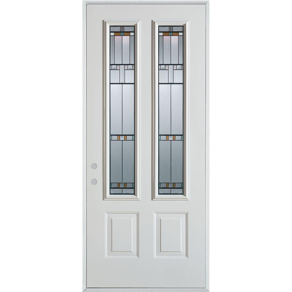 37.375 in. x 82.375 in. Architectural 2 Lite 2-Panel Painted White