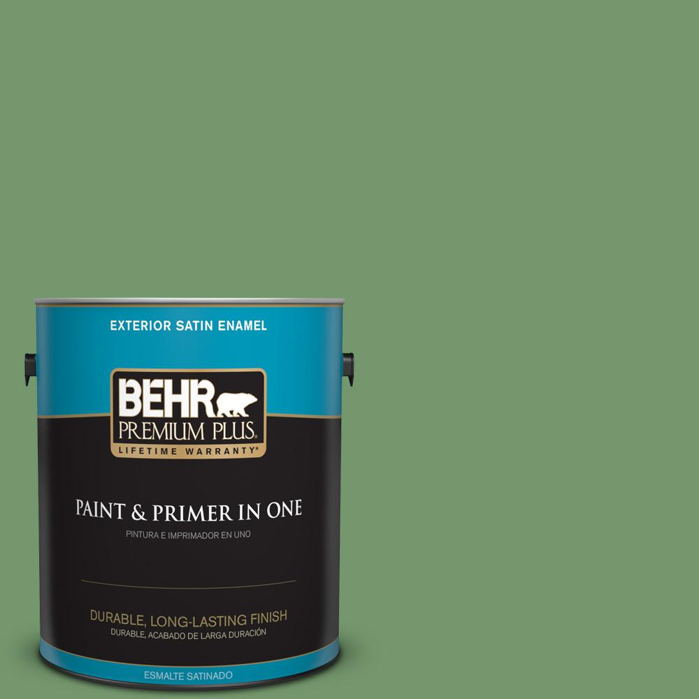 1 gal. #PPU11-03 Botanical Green Satin Enamel Exterior Paint