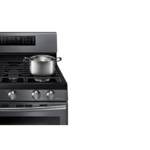 8 samsung 30 in 58 cu ft flex duo double oven gas range with