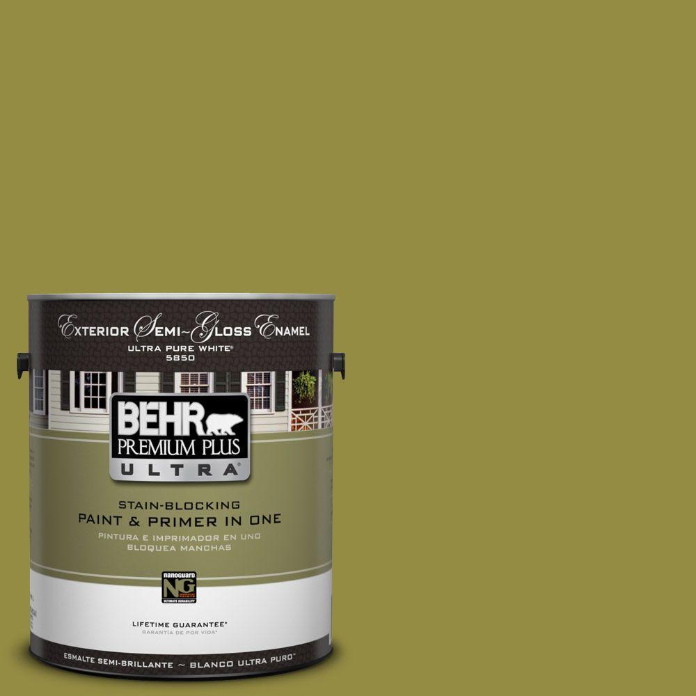 1-Gal. #UL200-20 Retro Avocado Semi-Gloss Enamel Exterior Paint