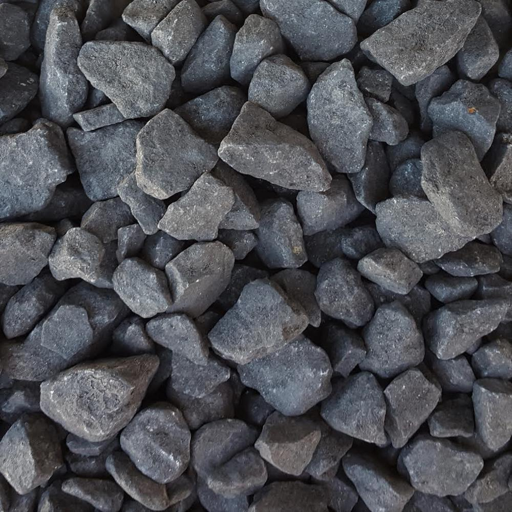 River Rock Black Landscape Rocks Hardscapes The Home Depot