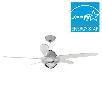 Indoor clear ceiling fans lighting the home depot indoor chrome ceiling fan with 5 clear blades mozeypictures Choice Image
