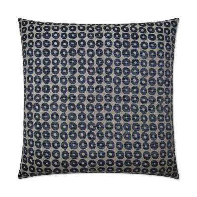 Mirabelle Midnight Feather Down 24 in. x 24 in. Decorative Throw Pillow
