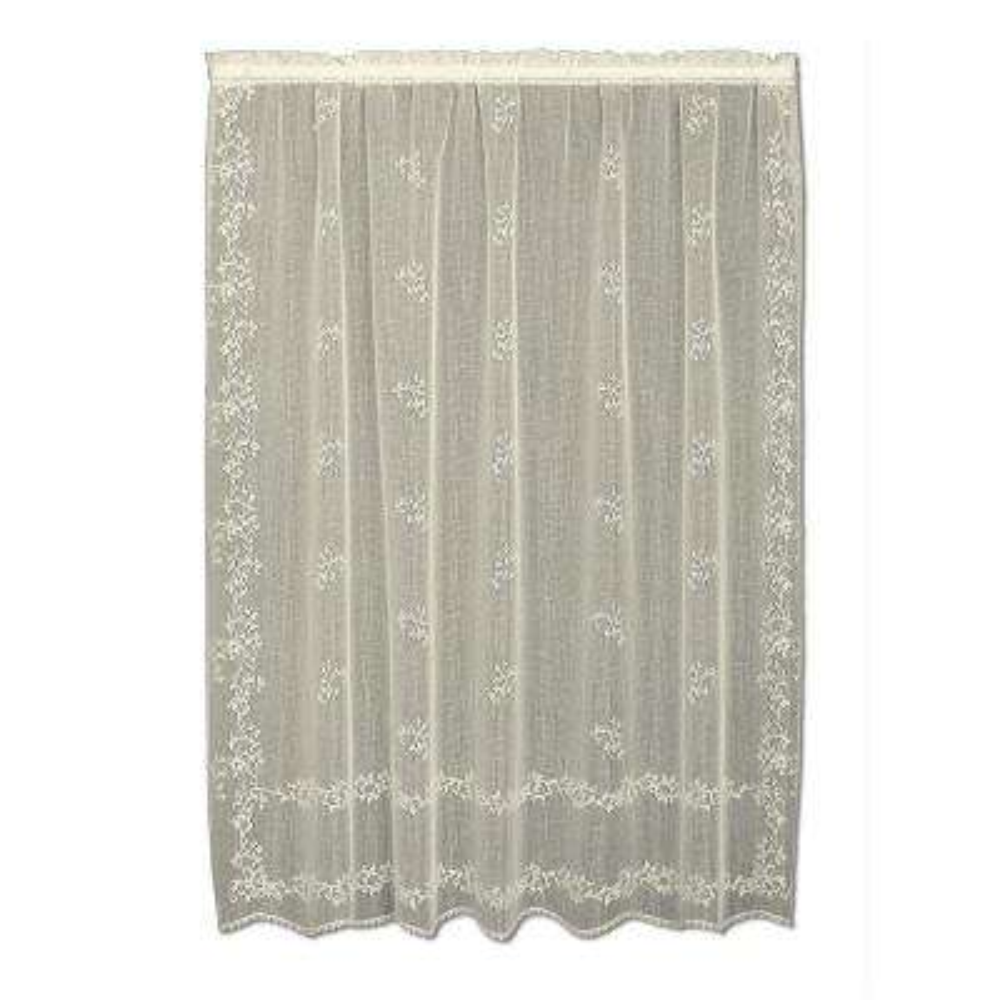 Sheer Divine Ecru Lace Curtain 60 in. W x 84 in. L