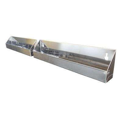 28x3x1.75 in. Tilt Out Tray Kit for 33 in. Sink Base Cabinet False Fronts in Stainless Steel (2-Pack)