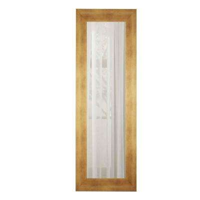 29.5 in. x 15.5 in. Hushed Golden Sunset Panel Mirror