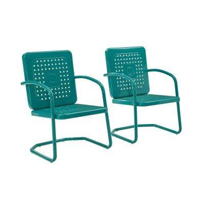 Bates Turquoise Metal Outdoor Lounge Chair (2-Pack)