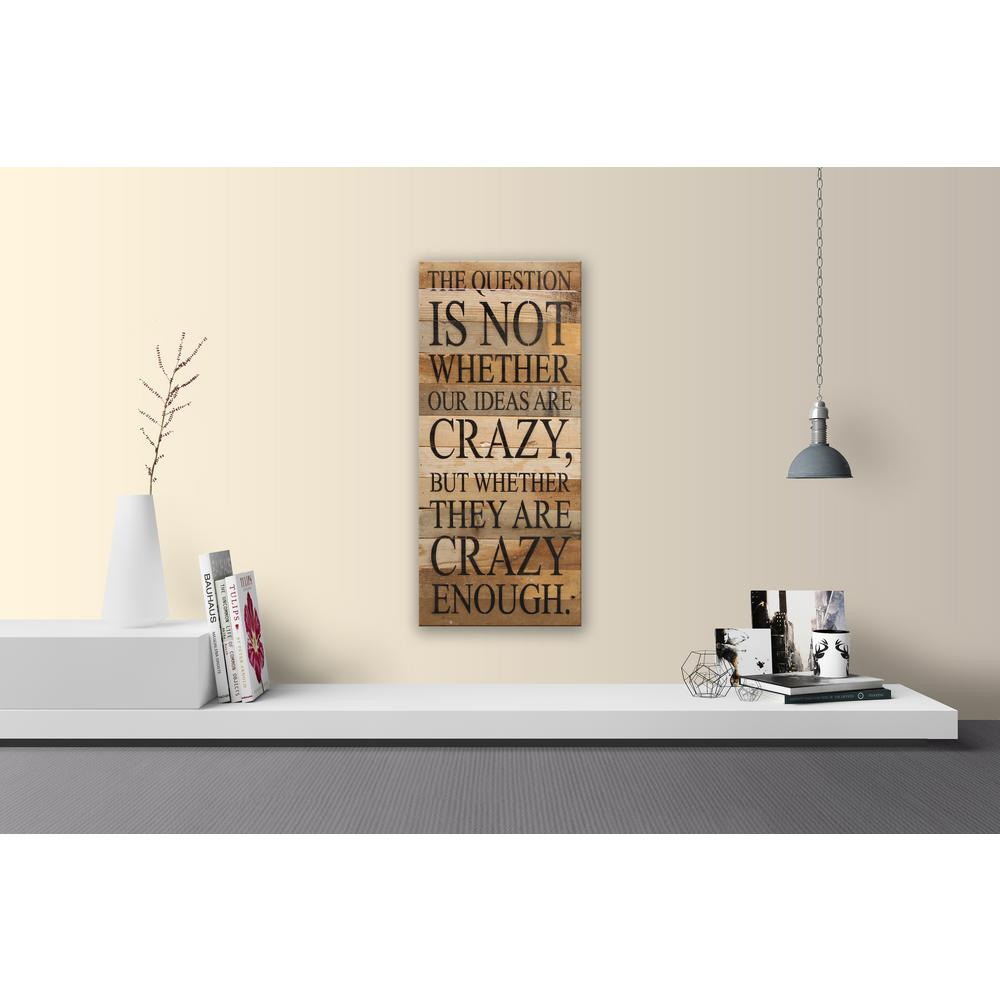 OUR IDEAS ARE CRAZY Reclaimed Wood Decorative Sign-1224QUE-NR - The ...