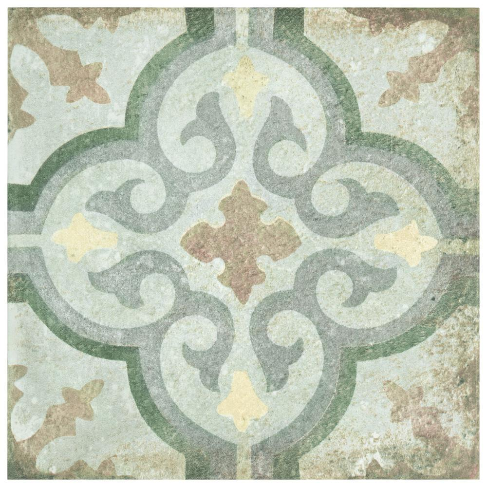 D'Anticatto Decor Palazzo 8-3/4 in. x 8-3/4 in. Porcelain Floor and